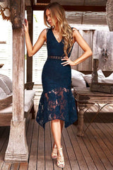 Ivory Dress in Navy