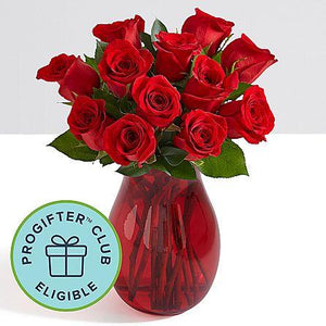 One Dozen Red Birthday Roses