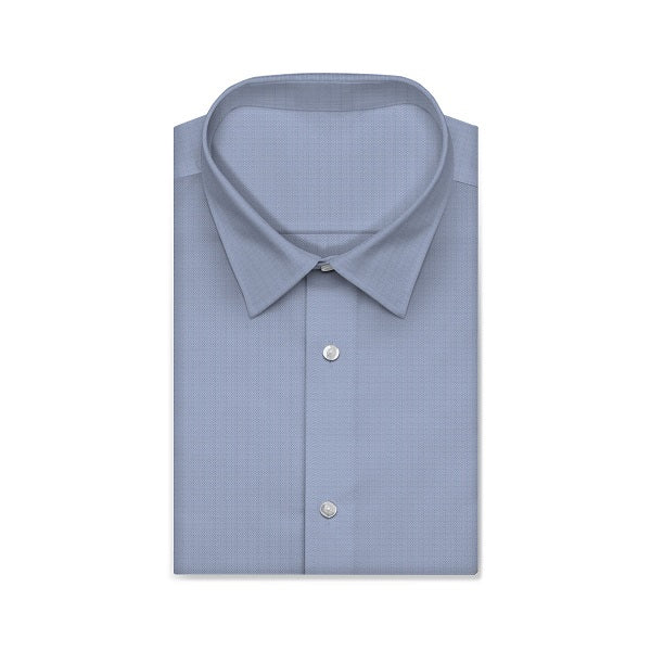 CENTURY Alice Blue Solid Color Short/Long Sleeve Custom Cotton Shirt