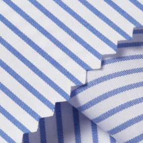 TWILL ROYAL Alice Blue Fine Stripe Short/Long Sleeve Custom Cotton Shirt