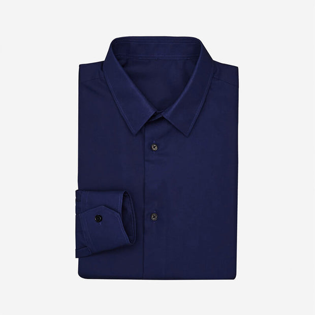 Dark Blue High Count Cotton Customized Dress Shirt