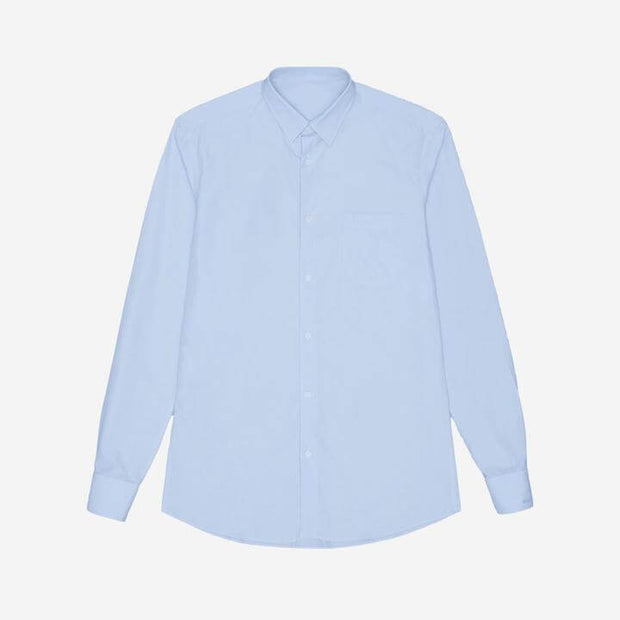 Alice Blue High Count Cotton Customized Dress Shirt
