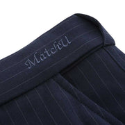 Dark Blue Stripe Stretch Fabric Customized Pants