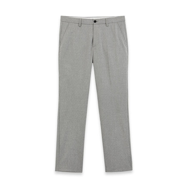 Smoky Grey Stripe Stretch Fabric Customized Pants
