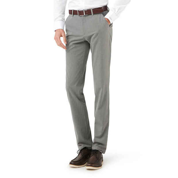 Medium Grey Stretch Fabric Customized Pants