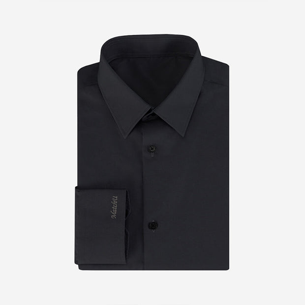 Dull Black High Count Cotton Customized Dress Shirt