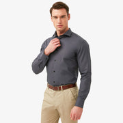 Ash Grey Cotton Customized Dress Shirt