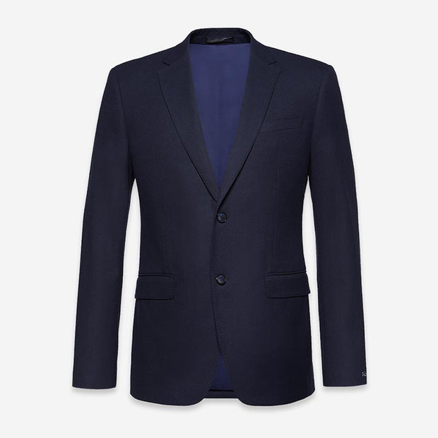 Dark Navy Heavy Weight Tailored Fit Customized Blazer (Suit Set Available)