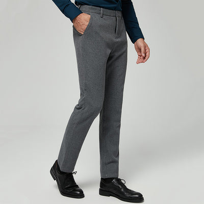 Dark Grey Easy Care Wool Blended Customize Pants