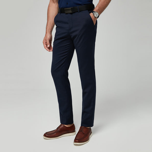 Navy Blue Easy Care Wool Blended Customize Pants