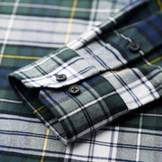 Wilson Blue & Green Check Flannel Cotton Customized Dress Shirt