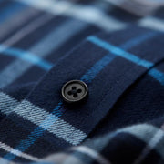 Nick Blue & Navy Check Flannel Cotton Customized Dress Shirt