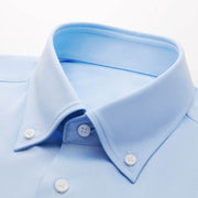 Light Blue Heavyweight Bamboo Fiber Customized Dress Shirt