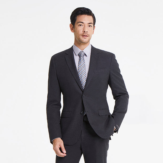 Medium Grey Heavy Weight Tailored Fit Customized Blazer (Suit Set Available)