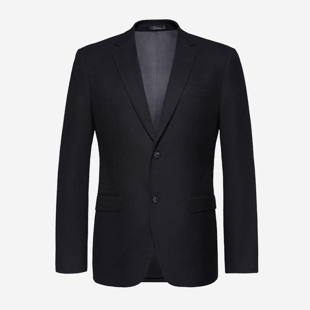 Knight Black Heavy Weight Tailored Fit Customized Blazer (Suit Set Available)