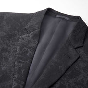 Black Motley Pattern Heavy Weight Tailored Fit Customized Blazer