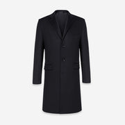 Black Luxury Wool & Cashmere Tailored Fit Customized Overcoat