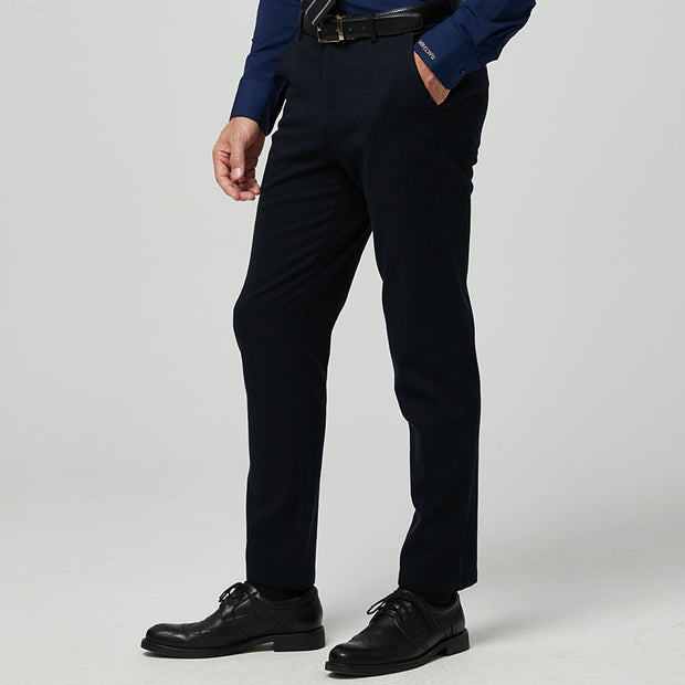 Dark Navy Easy Care Tailored Fit Stretch Fabric Customized Pants
