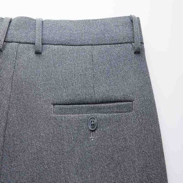 Light Grey Easy Care Tailored Fit Stretch Fabric Customized Pants