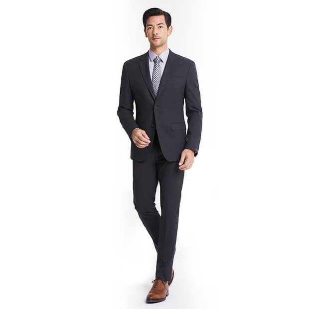 Medium Grey Heavy Weight Tailored Fit Customized Suit Set