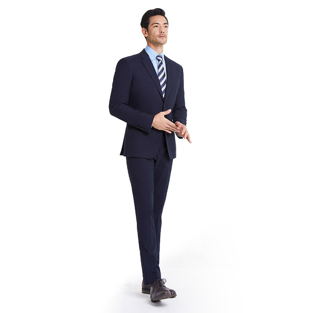 Dark Navy Heavy Weight Tailored Fit Customized Suit Set