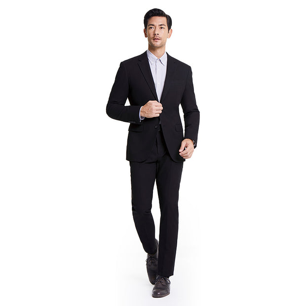 Knight Black Heavy Weight Tailored Fit Customized Suit Set