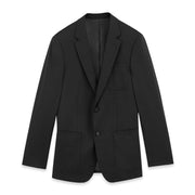 Knight Black Twill Tailored Fit Stretch Fabric Customized Blazer (Suit Set Available)