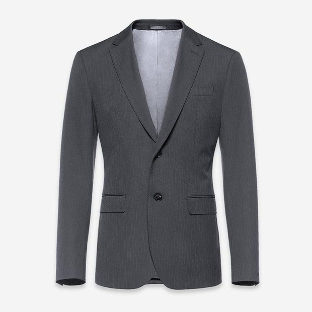 Dove Grey Stripe Easy Care Tailored Fit Customized Blazer