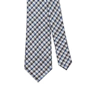 Giorgio Mandelli 100% Silk Woven Grey Multi Check Tie