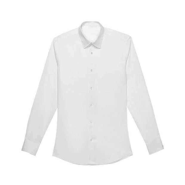 Nile White Bamboo Fiber Customized Dress Shirt