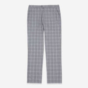 Light Grey Wales Check Stretch Fabric Customize Pants