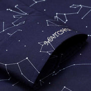 Stardust Navy Zodiac Sign Print Bamboo Fiber Customized Dress Shirt