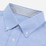Light Sky Blue Contrast Color Oxford Customized Cotton Dress Shirt