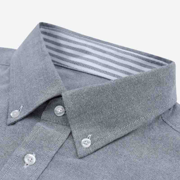 Silver Contrast Color Oxford Customized Cotton Dress Shirt