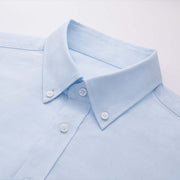 Light Blue 100% High Count Cotton Customized Dress Shirt