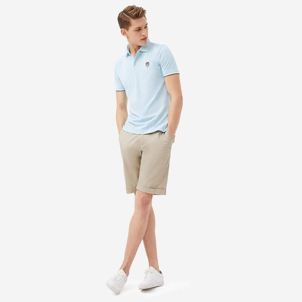 Pima Cotton Light Khaki Shorts
