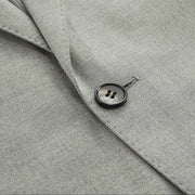 Light Grey Twill Tailored Fit Stretch Fabric Customized Suit Set