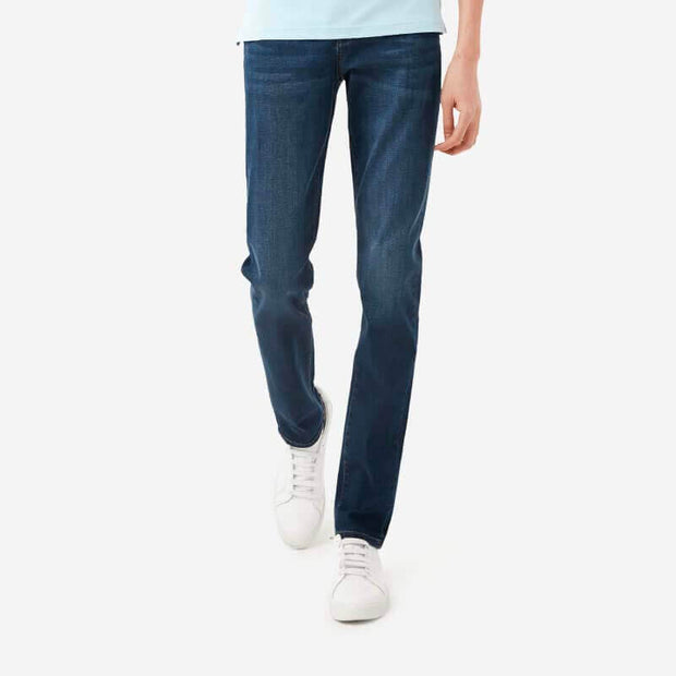 Dark Wash Tailored Slim Taper Fit Super Stretch Jeans