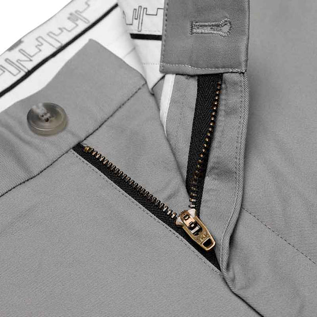 Non-Iron Frost Grey Cotton Customized Pants
