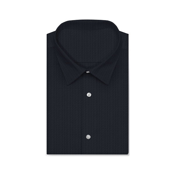 CVC Knight Black Twill Short/Long Sleeve Custom Cotton Blended Shirt
