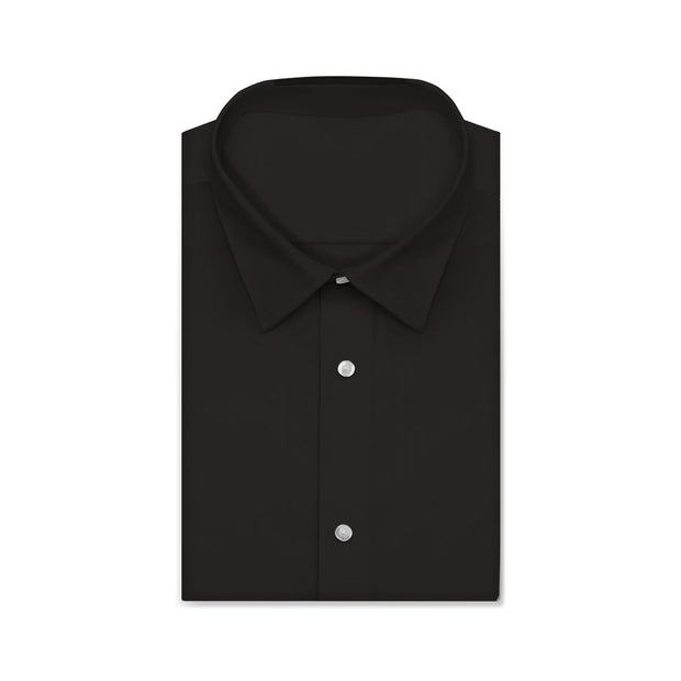 CVC Stardust Black Twill Short/Long Sleeve Custom Cotton Blended Shirt
