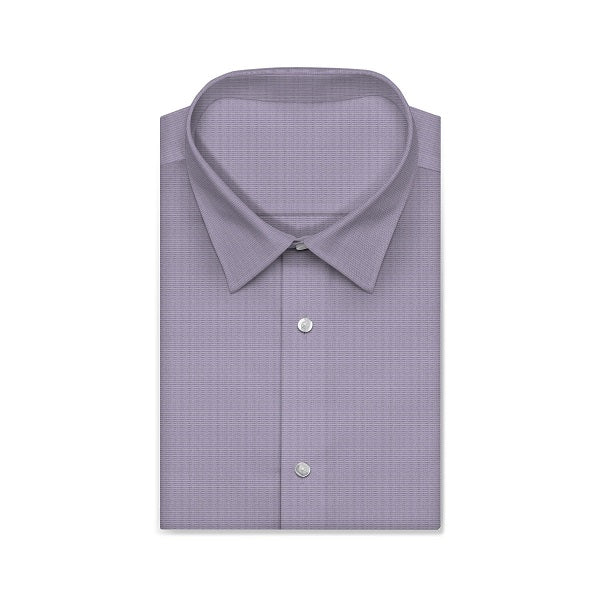 MONTEREY PLUS Purple Solid Color Short/Long Sleeve Custom Cotton Shirt