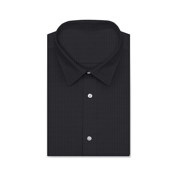 MONTEREY PLUS Knight Black Solid Color Short/Long Sleeve Custom Cotton Shirt