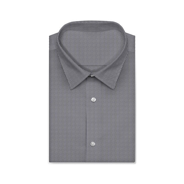 REGENT Olive Black Wave Houndstooth Short/Long Sleeve Custom Cotton Shirt