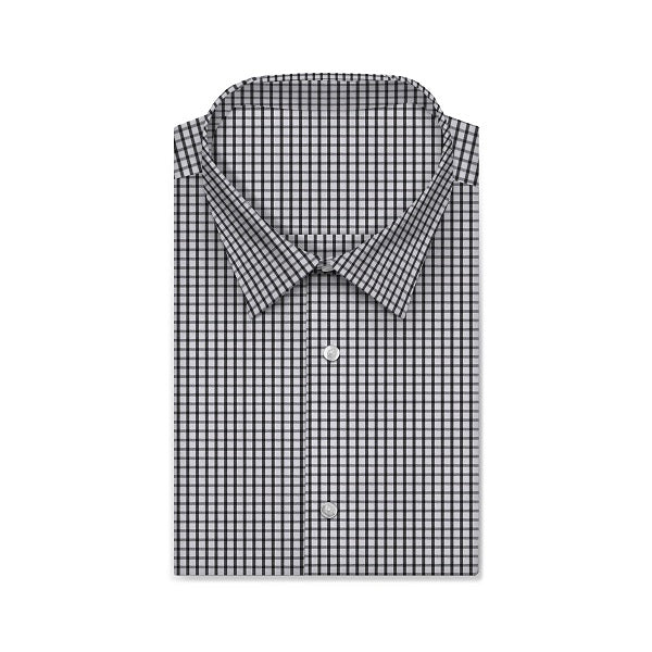 REGENT Olive Black Checkered Short/Long Sleeve Custom Cotton Shirt