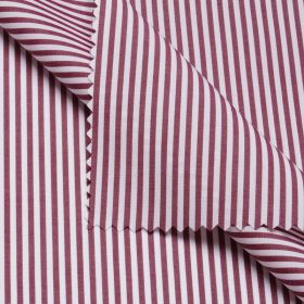 REGENT Dark Red Stripe Short/Long Sleeve Custom Cotton Shirt