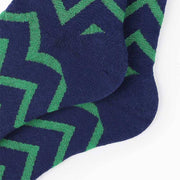 Crazy & Colorful Blue Green Wave Socks
