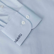 Sky Blue Cotton & Tencel Customized Dress Shirt