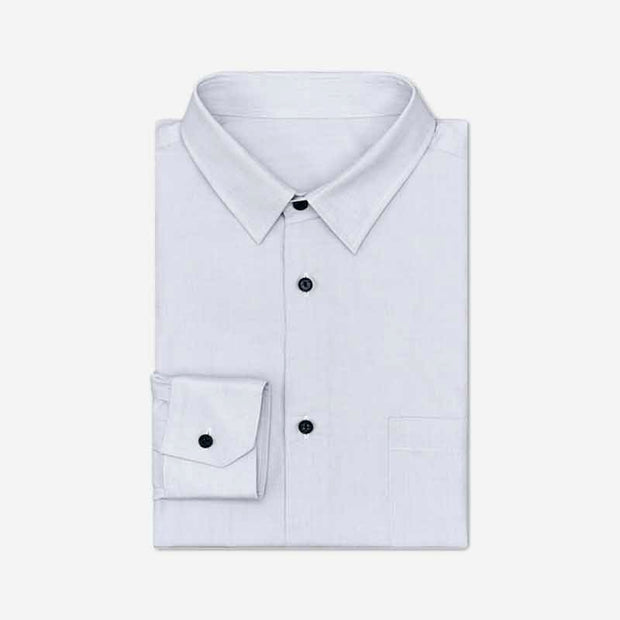 White Smoke High Count Cotton Customized Dress Shirt