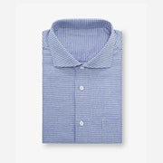 Dark Slate Purple Houndstooth Cotton Customized Dress Shirt